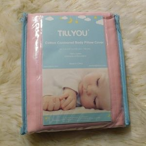TILLYOU Pink 100% Cotton Maternity Pillow Cover